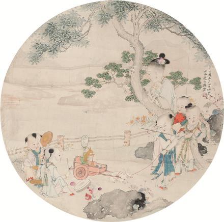 溥儒(1896-1963)童趣图