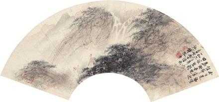 傅抱石(1904-1965)观瀑图