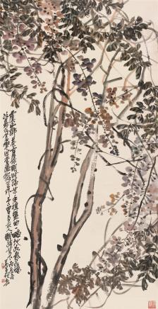 吴昌硕(1844-1927)紫藤图