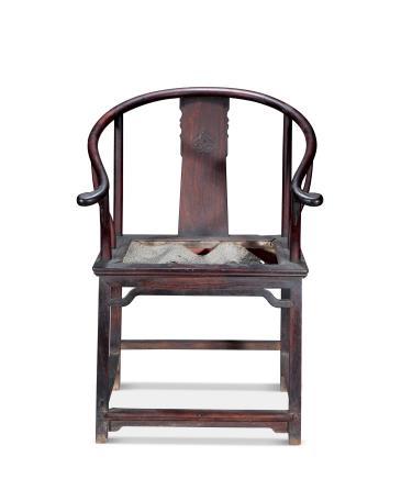 清早期黄花梨圈椅