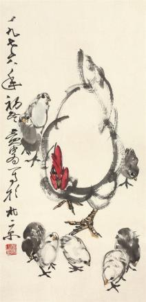 黄胄(1925~1997)大吉图