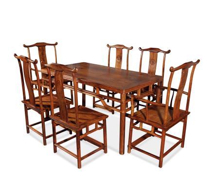黄花梨明式长方餐桌