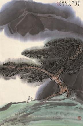 何海霞(1908~1998)松影咏其间