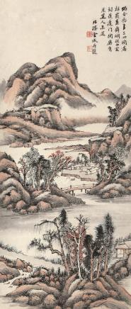 金城(1878~1926)秋山村居图