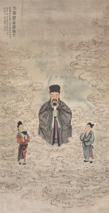 徐菊庵(1890~1964)天官赐福