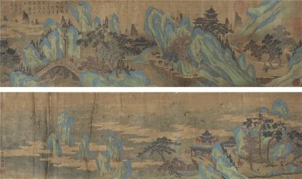 钱维城(1720~1772)青绿山水