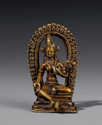 清铜度母坐像