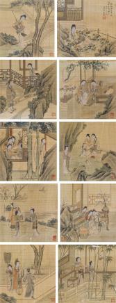 吴友如(?-1894)工笔人物