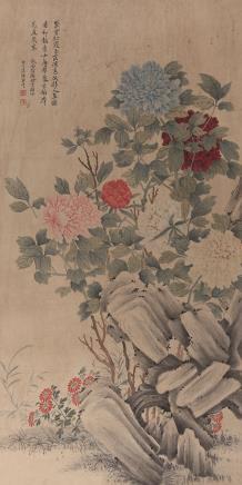 恽寿平  工笔牡丹