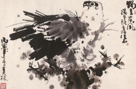 韩美林  鹰