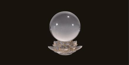 二十世纪 莲座水晶球