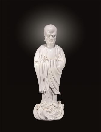 二十世纪 德化博及渔人渡江达摩立像