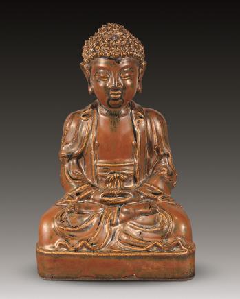 清 紫金釉佛祖供像