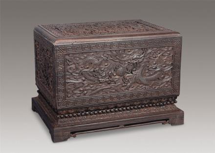 紫檀云龙宝盒