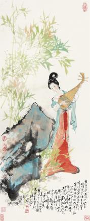 韩敏  仕女图1982年作
