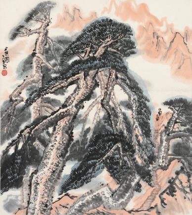 贾又福(b.1942)夕照图