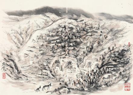 崔振宽(b.1935)陕北风情