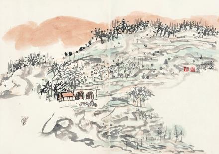 赵益超(b.1941)、张明堂(b.1941)春山图
