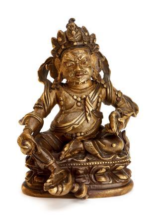 清中期     铜黄财神