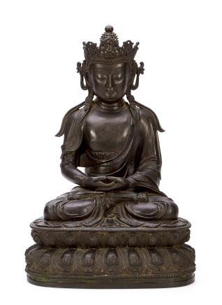 明初     铜阿弥陀佛造像