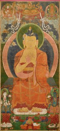 十八世纪     释迦摩尼佛唐卡