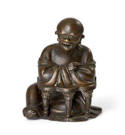 明     铜製老子造像