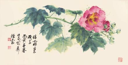 谢稚柳(1910-1997)  芙蓉花