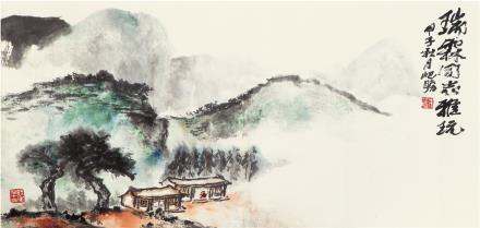 朱屺瞻(1892-1996)  秋山图