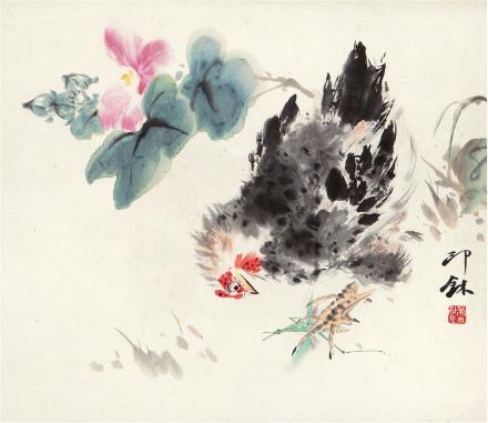 萧  朗(1917-2010)  芙蓉大吉