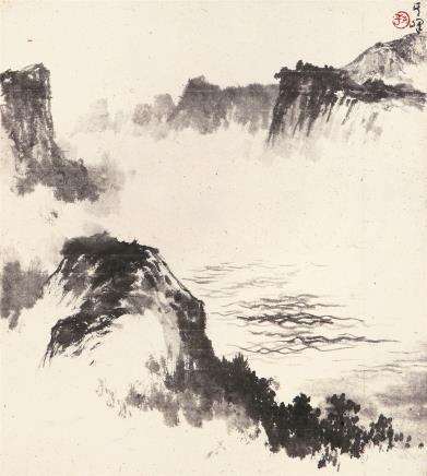 孙其峰(b.1920)  溪峡图