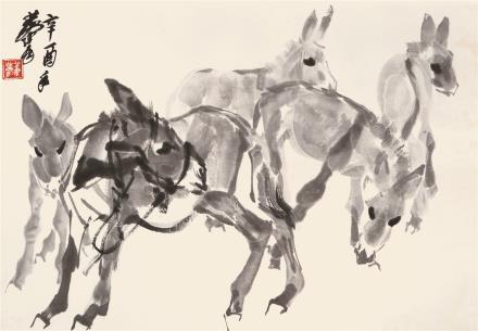 黄  胄(1925-1997)  群驴图