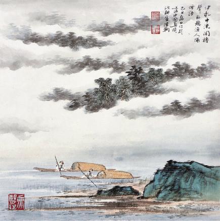 陈翔青绿山水