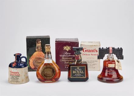 80年代各类威士忌一组 共4瓶