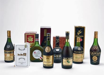 90年代 法国产白兰地一组 共8瓶