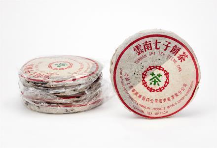 2000年 双江中茶勐库茶厂野生青饼 共5片