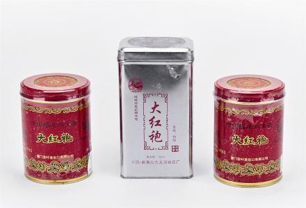 2012年中茶海堤牌一级大红袍2罐及2008年九龙涧岩茶厂特级大红袍1罐 共3罐