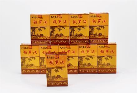"""1998年 武夷九曲茶厂""""铁罗汉""""岩茶 共十盒"""