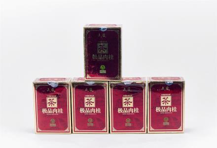 """2007年 武夷山茶叶总厂""""正岩""""牌极品肉桂 共5盒"""