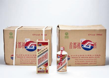2012年 首都机场专供茅台酒二箱 共24瓶