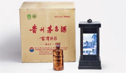 2012年 百年巨匠张大千纪念版茅台酒一箱 共4瓶