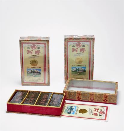 1990年 出口精装福牌阿胶(500克装)三盒 共1500g