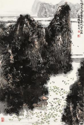 林丰俗凭栏十里芰荷香