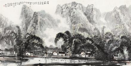 林丰俗雨后山村