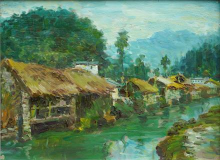 刘国枢 傍水山村  2001年