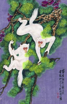 周北溪 白猴  1990年