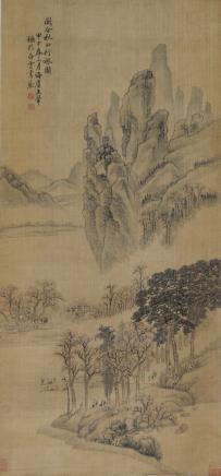 王翚  秋山行旅