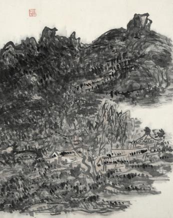 黄宾虹  深山幽居