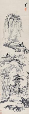 八大  山居图