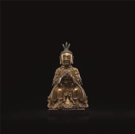 明  铜鎏金道教造像