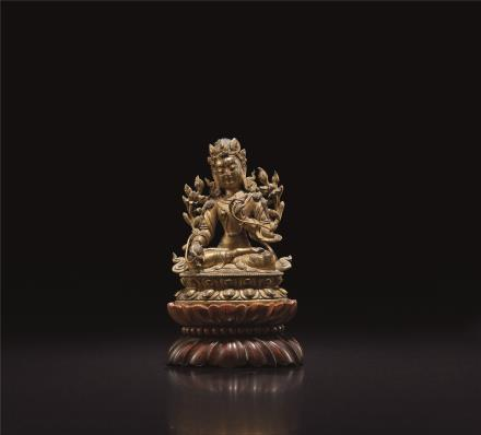 清中期  铜鎏金度母像